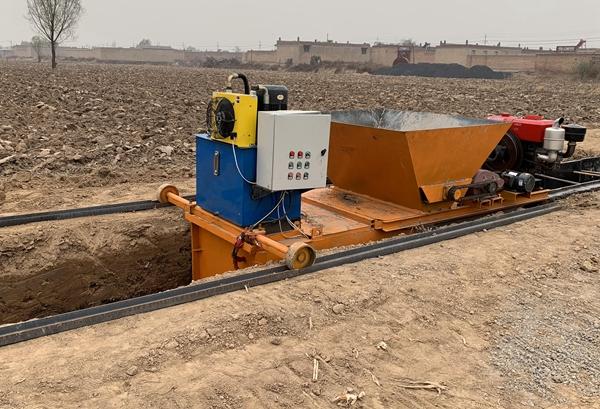 水渠机现浇成型机,水沟自走成型机
