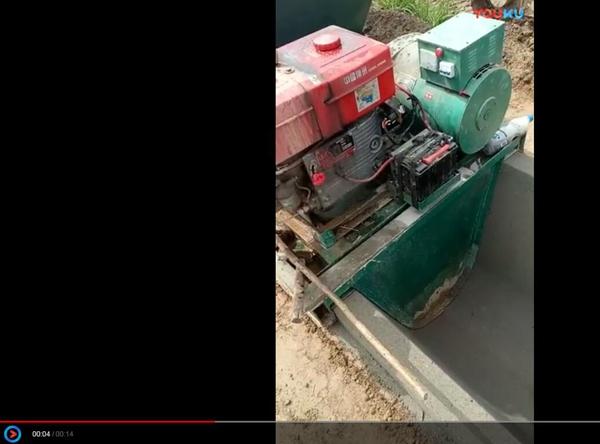 水渠成型机施工视频
