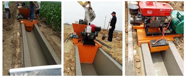 混凝土排水沟成型机,排水沟滑膜机