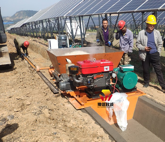 排水沟滑模机